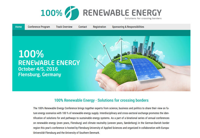 100% Renewable Energy - Solutions for crossing borders