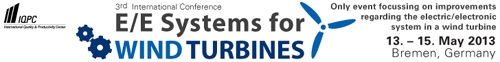 3rd International Conference E/E Systems for Wind Turbines