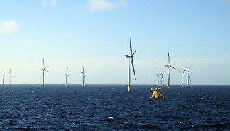 """""""Bergfest"""" bei der Anlagenerrichtung von Baltic 2: Vierzigste Windkraftanlage steht / Pressebild: EnBW"""