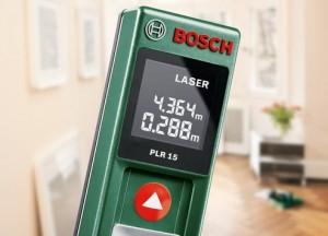 Hochpräzises Laser-Modul zur Entfernungsmessung im Inneren Digitaler Laser-Entfernungsmesser PLR 15 von Bosch macht Messen einfach einfach.