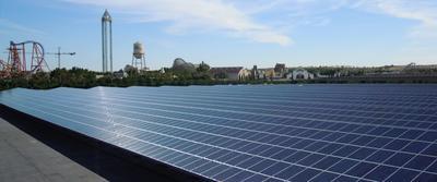 Solar Carport Warner Brothers, Madrid, Spanien / Pressebild: Soventix