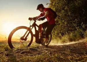eBike with a Bosch drive system in sporting use: an eMountain bike / Pressebild: Bosch
