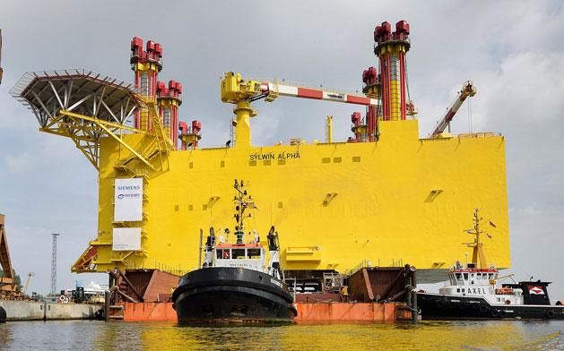 Ab Herbst 2017 wird DolWin gamma 900 MW Strom aus Offshore-Windparks in der Nordsee umrichten / Pressebild: NordicYards