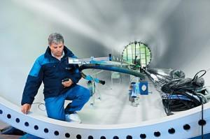 Prüfung von Windkraftanlagen / Pressebild