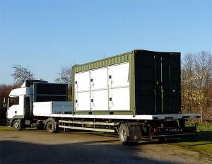 Lieferung eines mobilen Solarkraftwerks an die Bundeswehr / Pressebild: aleo solar GmbH