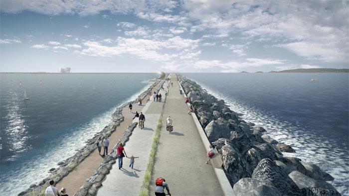 Das Gezeitenlagunen-Wasserkraftwerk soll in der Severn-Mündung errichtet und mit 16 Maschinensätzen mit einer installierten Leistung von jeweils mehr als 20 Megawatt ausgerüstet werden. / Pressebild: Andritz