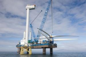 Offshore-Windpark Veja Mate entsteht 95 Kilometer nordwestlich der Insel Borkum / Pressebild: Vattenfall