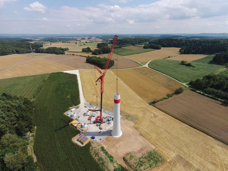 csm Windkraftwerk Neudorf II Bau Quelle NATURSTROM AG