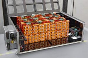 Leistungsstarkes 10 kWh Batteriesystem mit eigensicheren LFP-Zellen sowie integriertem Batterie-Managementsystem. © Fraunhofer LBF/Raapke