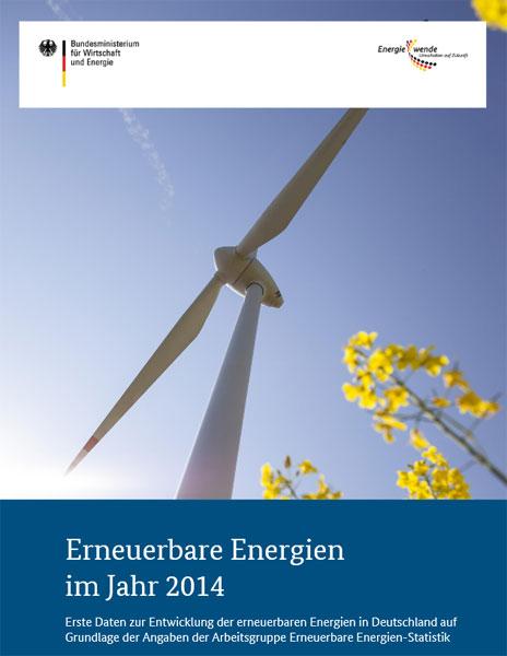 Erste Daten zur Entwicklung der erneuerbaren Energien in Deutschland auf Grundlage der Angaben der Arbeitsgruppe Erneuerbar e Energien - Statistik / Mitteilung: BMWi