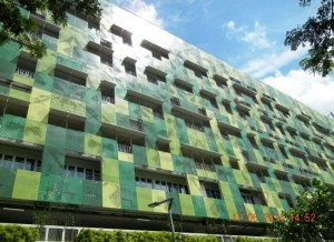 Facade that will have HeliaFilm in Singapore