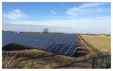 Der Solarpark Oeversee erstreckt sich südlich von Flensburg / Pressebild: IBC Solar