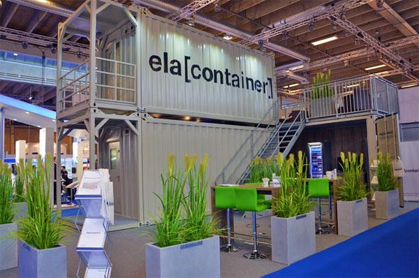 Am Stand C3-B34 wurden der ELA Living Quarter, Podest Container und Trockencontainer ausgestellt. / Pressebild