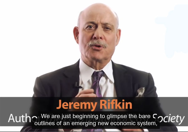 Jeremy Rifkin on the Fall of Capitalism and the Internet of Things / Video