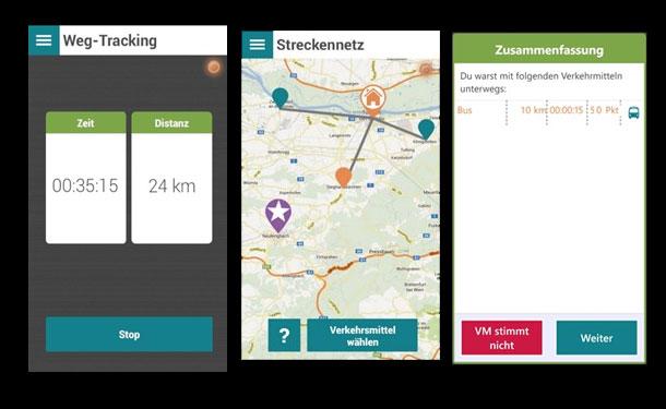 Handy-Spiel zum Steigern umweltbewussten Verkehrsverhaltens / Pressebilder: FH ST Pölten