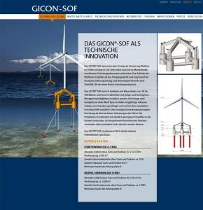 GICON®-SOF - Deutschlands erstem Schwimmendem Offshore-Fundament / Pressebild