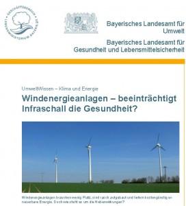 Beeinträchtigt  Infraschall von Windanlagen die Gesundheit?