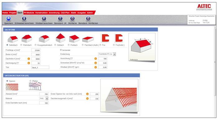 ALTEC-Planungstool Screenshot / Pressebild