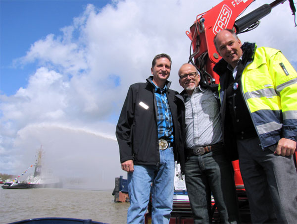 Pressefoto : von Links – Kevin Teichmann, Mauricio Garrido, Torsten Andritter-Witt