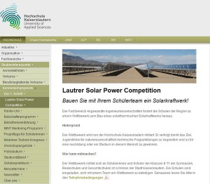 Bauen Sie mit Ihrem Schülerteam ein Solarkraftwerk!