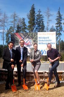 Spatenstich für interkommunalen Windpark Dinkelsbühl-Wilburgstetten / Pressebild