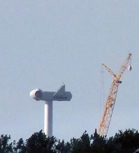 Aufbau einer Vestas Windanlage / Foto: HB