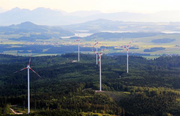 Windpark Munderfing / Fotorechte: © Energie AG / Rebekka Reichinger / honorarfreie Verwendung
