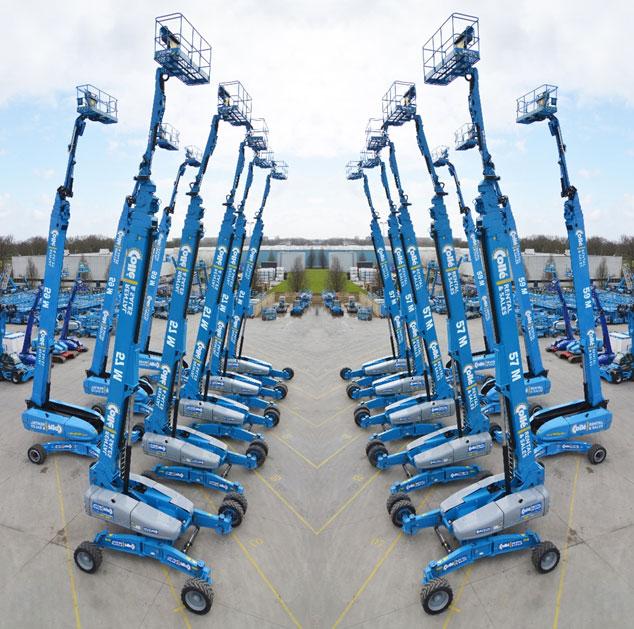 Die Genie SX-180 und JLG 1850 SJ sind die höchsten, selbstfahrenden Teleskopbühnen der Welt.