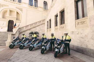 Cagliari, 28 April 2015. Delivery of electric scooters to the authorities of the city of Cagliari (04/2015). / Pressebild: BMW