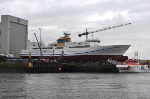 """Das neue Helgolandschiff ist der erste EU-weite Neubau mit einem auf Flüssiggas basierenden Antriebssystem. Das Pilotprojekt ist weltweit gefragt: """"Wir bekommen Anfragen aus Australien über Japan bis hin in die USA"""""""