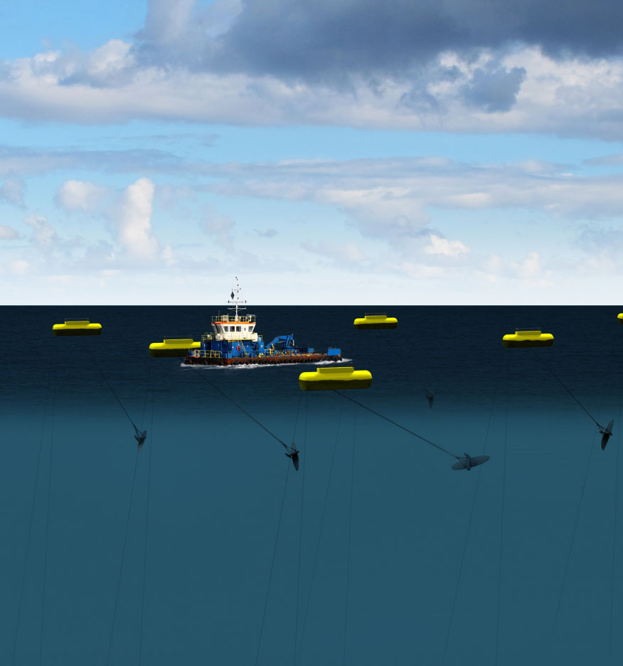 Minesto is a marine energy company whose mission is to minimize the global footprint of the energy industry by enabling commercial power production from low velocity tidal and ocean currents.