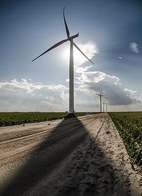 Windenergie für das Amazon Web Services Rechenzentrum - Siemens liefert 65 Windturbinen vom Typ SWT-2.3-108 für das Windprojekt Fowler Ridge des Energieunternehmens Pattern Energy, das in Indiana entsteht. / Pressebild: Siemens