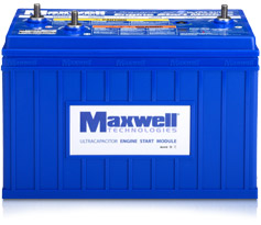 Maxwell's Ultracapacitor-Based Engine Start Module / Pressebild: Maxwell Technologies GmbH