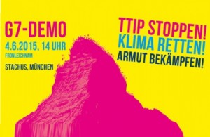 Oxfam auf der G7-Demo in München Oxfam beteiligt sich an einer großen, friedlichen und bunten Demonstration am 4. Juni in München.