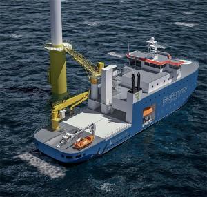 Das neue Schiff profitiert von aus beiden Welten: Schiffsdesign und Offshore-Erfahrung. / Pressebild