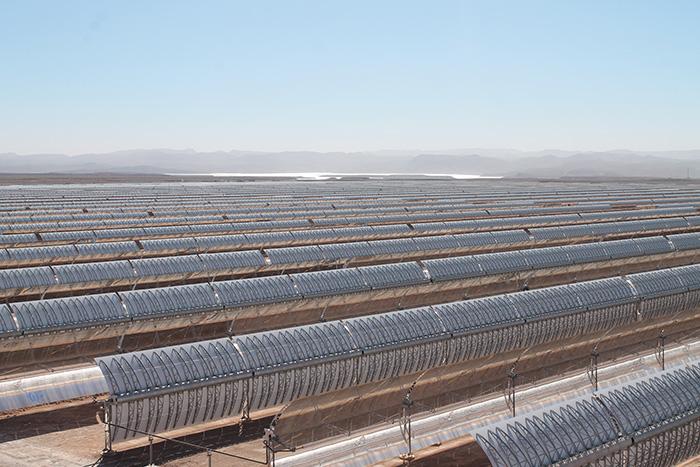 Solarthermisches Kraftwerk NOORo I in Südmarokko. ©Germanwatch / Wuppertal Institut, Foto: Boris Schinke