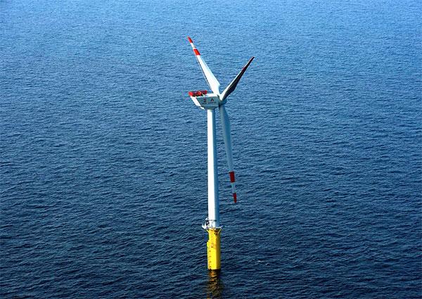 Stadtwerke vollenden Pionierleistung in der Nordsee - Trianel Windpark Borkum in Betrieb / Pressebild