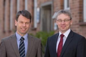 Der WEMAG-Vorstand mit Caspar Baumgart (li.) und Thomas Pätzold. Foto: WEMAG/Rudolph-Kramer