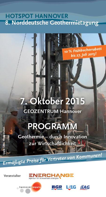 8. Norddeutsche Geothermietagung