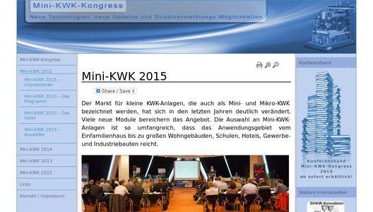 Die Informationen der zweitägigen Mini-KWK-Fachkonferenz können jetzt gedruckt und digital erworben werden (Bild: BHKW-Infozentrum)