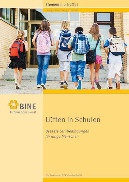 """Das BINE-Themeninfo """"Lüften in Schulen"""" (I/2015)"""