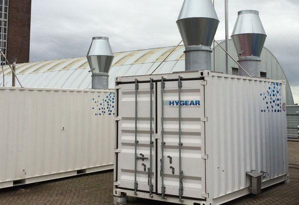 Anlagenprototyp des Projetpartners HYGEAR / Pressebild: DLR