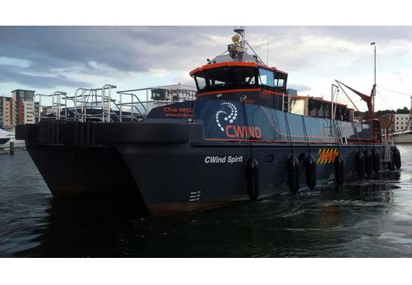 CWind Spirit: CWind erweitert Flotte und tauft neuestes Arbeitsboot / Pressebild