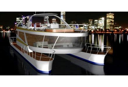 Yachten von innen  Eine von Grund auf neu entwickelte Katamaran-Yacht, die anderen ...