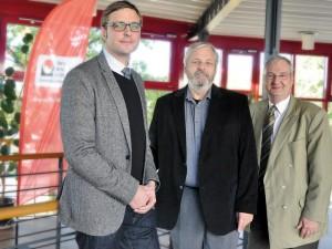 V.l.: Stefan Sievers, GF EKSH, FH Vize Prof. Dr. Joachim Litz und Stefan Brumm, GF EKSH Pressestelle FH Lübeck