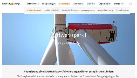 Green City Energy Internetseite / Pressebild