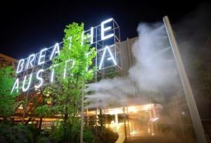 breathe.austria ist nicht nur das Motto des klimaneutralen österreichischen Pavillons, sondern durchaus wörtlich zu verstehen, Foto: © EXPO AUSTRIA