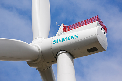 Derzeit testet Siemens die neue Offshore Windenergieanlage SWT-7.0-154 im dänischen Østerild.