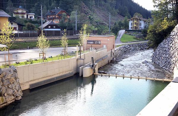 Die Wasserfassung des neuen Kraftwerks befindet sich in Hüttau. / Peressebild