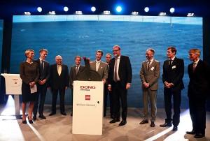 DONG Energy, die LEGO Gruppe und William Demant feiern die Eröffnung des Offshore-Windparks Borkum Riffgrund 1 in Deutschland / Pressebild: Dong Energy